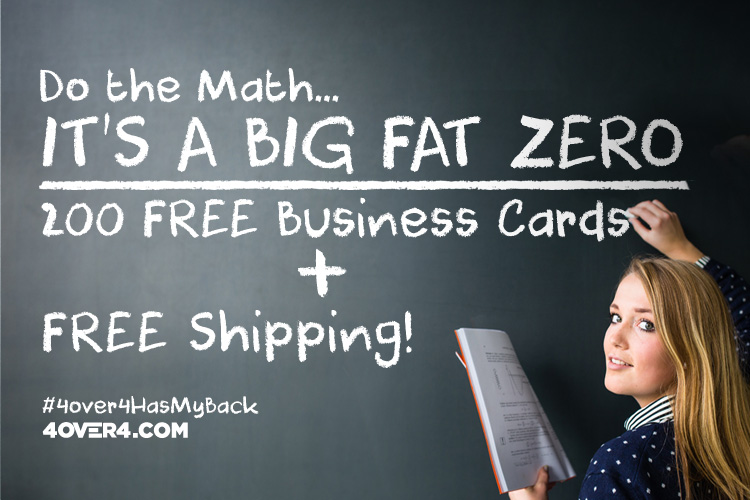 Free business cards free shipping yes totally free 4over4 reheart Image collections