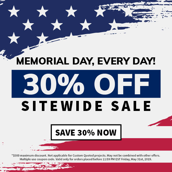 Memorial Day Every Day, 30% OFF SITEWIDE SALE!