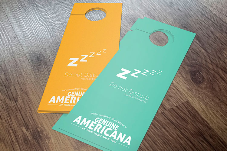 Custom Door Hangers Printing 4over4 Com