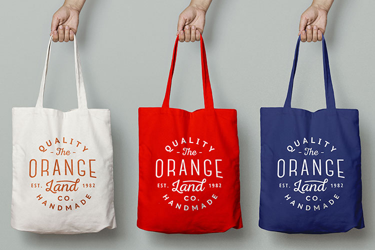 5075d7e5ac Personalized Totes | Custom Logo Reusable Bags | 4OVER4.COM