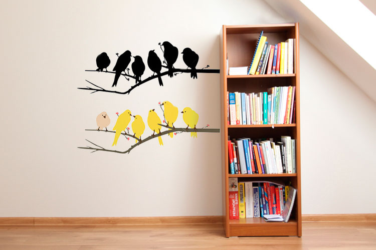 Custom Logo Wall Decals Vinyl Wall Decal Printing OVERCOM - Custom vinyl decal application spray