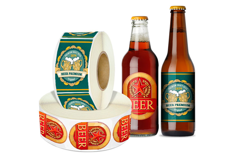 image regarding Printable Beer Labels known as Roll Beer Labels