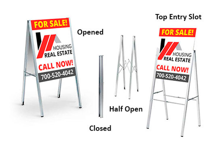 Aluminum A Frame Sidewalk Signs | 4OVER4.COM