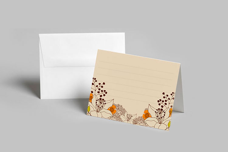 personalized folded note cards - Personalized Folded Note Cards