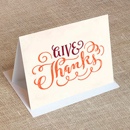 folded thank you cards - Personalized Thank You Cards