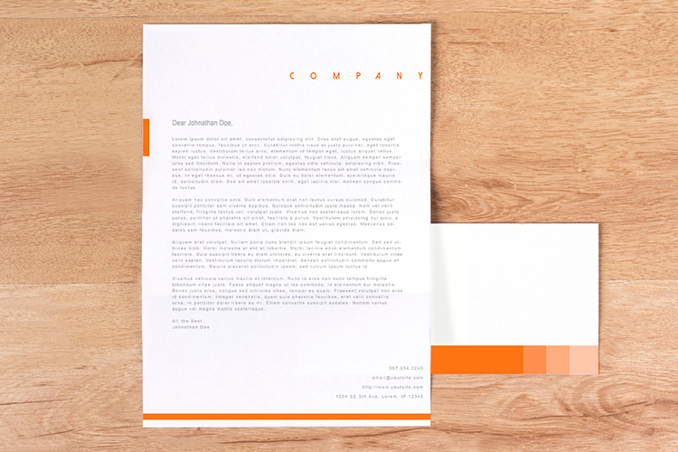 Custom Business Letterhead & Stationery Printing | 4Over4.Com
